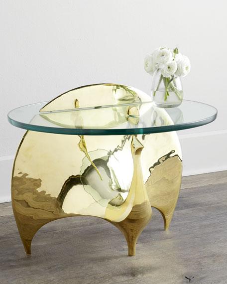 Jonathan Adler Brass Peacock Table