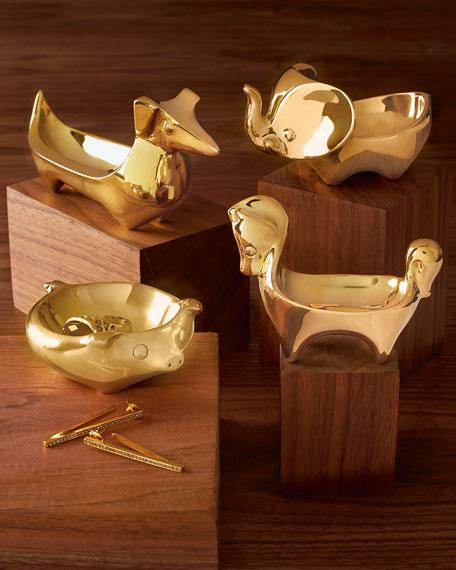 Brass Horse Ring Bowl