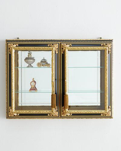 Gold & Black Two-Door Vitrine
