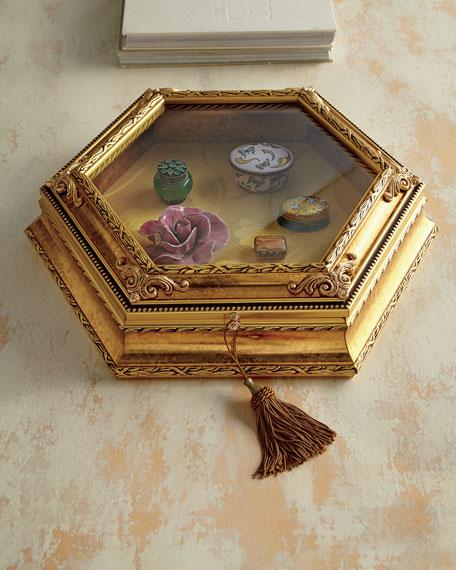Golden Hexagonal Vitrine