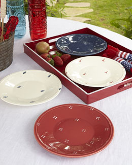 Four Nantucket Assorted Appetizer Plates