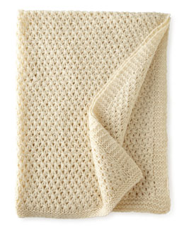 Pine Cone Hill Cullen Ivory Wool Throw