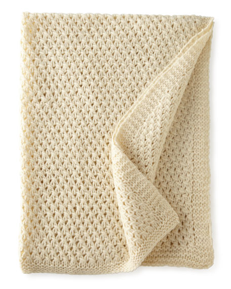 Cullen Ivory Wool Throw