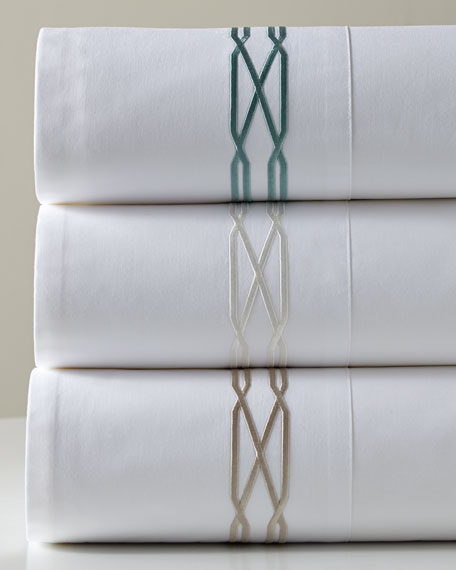 ANALI Queen 300 Thread Count Vendome Sheet Set