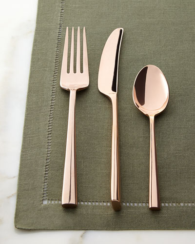 Five-Piece Malmo Rose Gold Flatware Place Setting