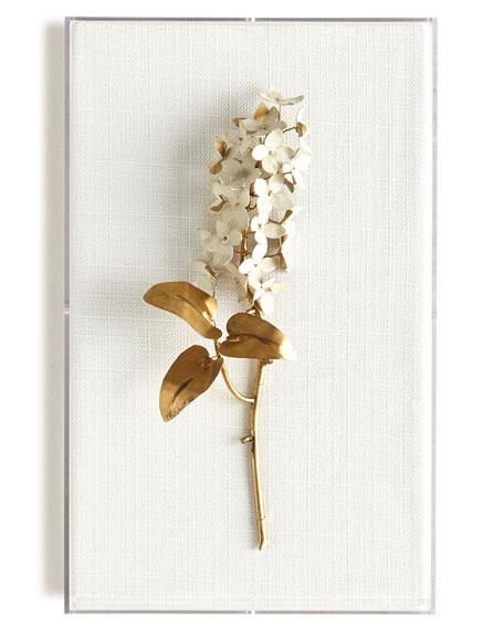 Original Gilded Lilac on White Linen