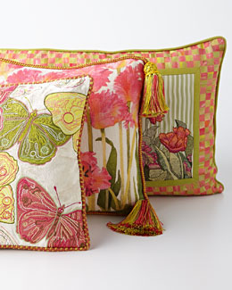 MacKenzie-Childs Butterfly Pillow