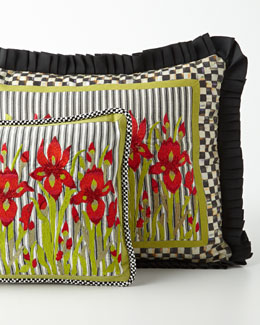 MacKenzie-Childs Small Iris Lumbar Pillow