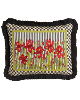 MacKenzie-Childs Large Iris Lumbar Pillow