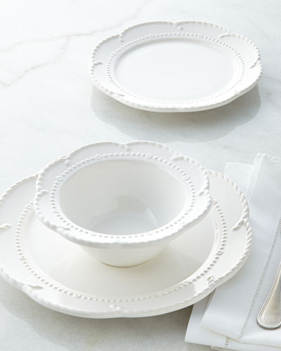 NM EXCLUSIVE 12-Piece Beaded Scalloped Dinnerware Service