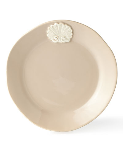 Four Shell-Motif Dinner Plates