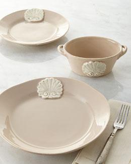 Four Shell-Motif Soup Bowls