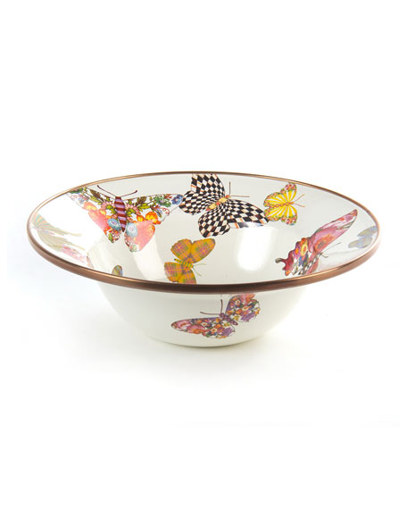 MacKenzie-Childs White Butterfly Garden Breakfast Bowl