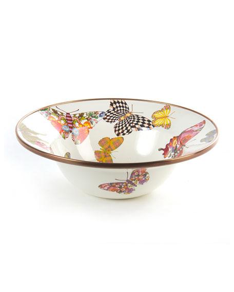MacKenzie-Childs White Butterfly Garden Dinnerware