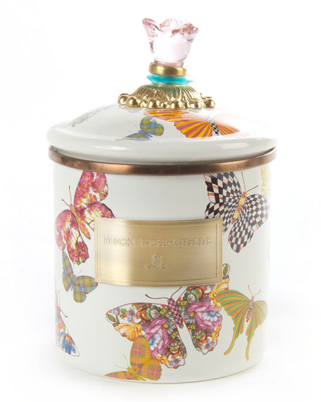 MacKenzie-Childs Small Butterfly Garden Canister