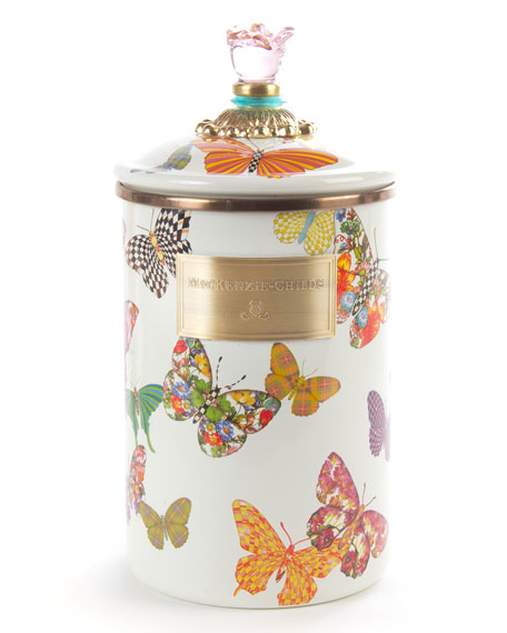 MacKenzie-Childs Large Butterfly Garden Canister