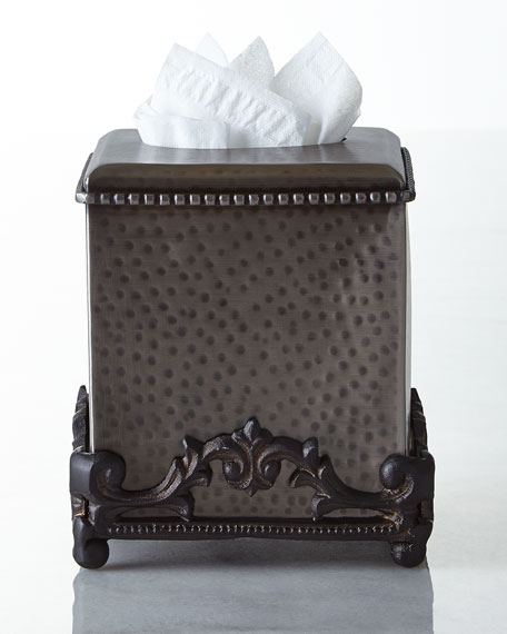 Hammered Tissue Box Cover