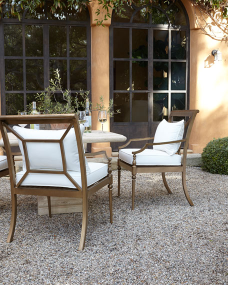 Alexandra Outdoor Urn Pedestal Table & Sophia Dining