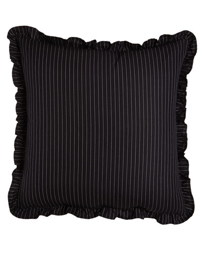 Ralph Lauren Home Pinstripe European Sham with Ruffle