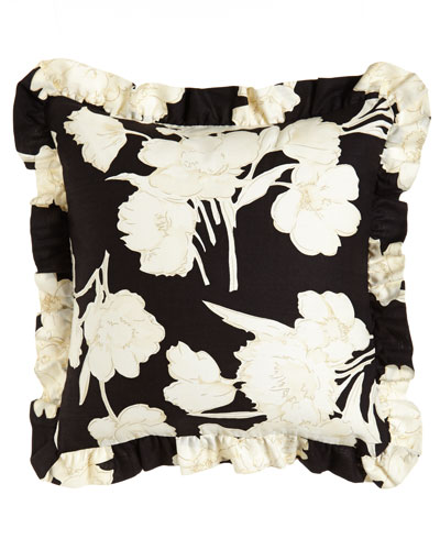 "Ralph Lauren Home Ruffled Floral Pillow, 18""Sq."