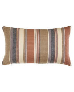 ELAINE SMITH Striped Lumbar Pillow