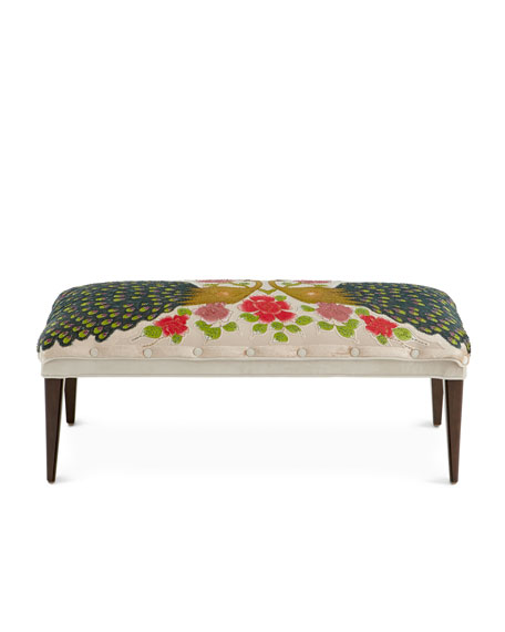 Cream Peacock Bench
