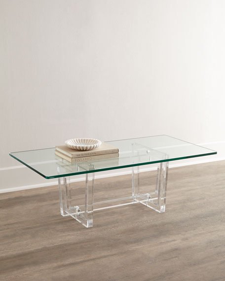 Interlude Home Aldon Acrylic Coffee Table