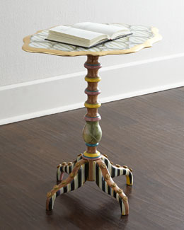 "MacKenzie-Childs ""Cake Stand"" Side Table"