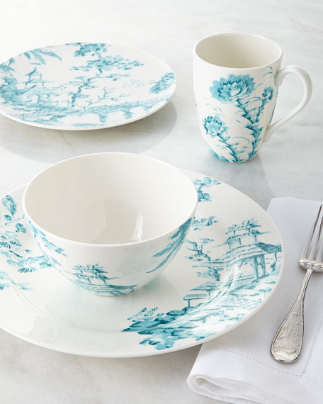 toile dish sets scalamandre by lenox four piece toile dinnerware place setting