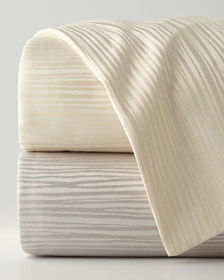 Donna Karan Home Reflection King Jacquard Stripe Duvet