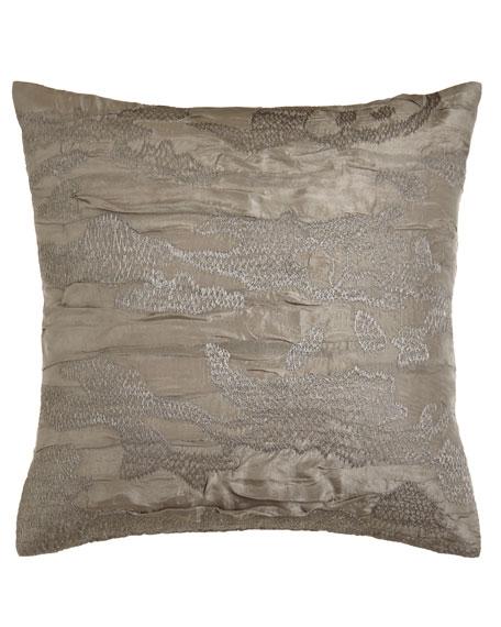Donna Karan Home Reflection Embroidered Pillow, 18