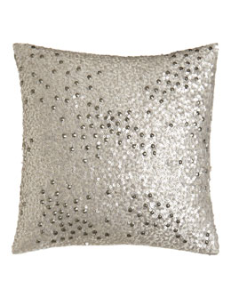 "Donna Karan Home Sequin Pillow, 12""Sq."