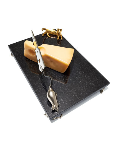 Michael Aram Cat & Mouse Cheese Board