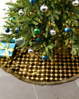 "Jay Strongwater ""Harlequin"" Christmas Tree Skirt"