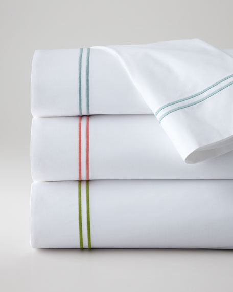 Two King 200TC Satin-Stitched Pillowcases