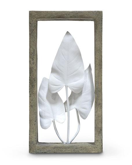 Palecek Anthurium Leaves Shadowbox