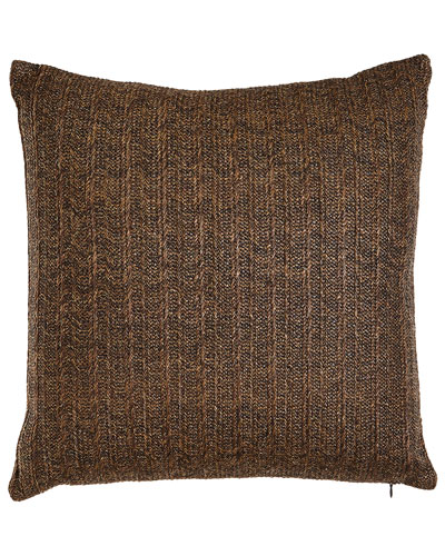 Aviva Stanoff Brown Metallic Stripe Pillow