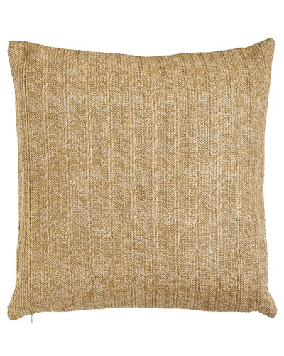 Aviva Stanoff Gold Metallic Stripe Pillow