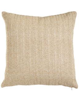Aviva Stanoff Ivory Metallic Stripe Pillow