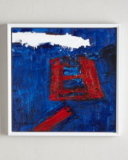 RFA Fine Art Red Square Abstract Giclee Print