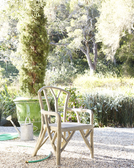 Artemis Faux-Bois Outdoor Dining Chair