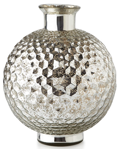 Honeycomb Mercury-Glass Vase