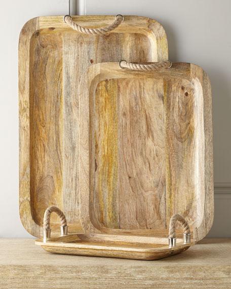 Three Zephyr Wood Trays
