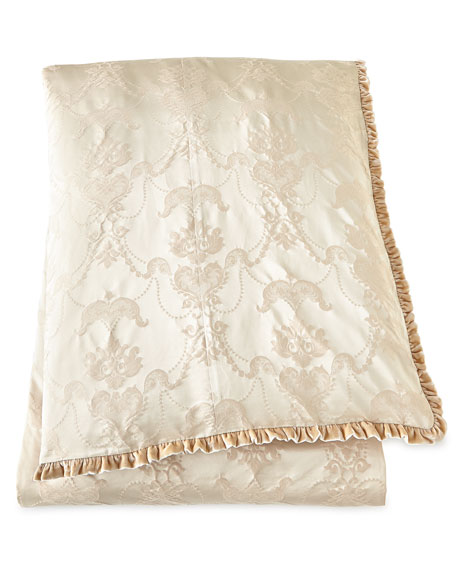 King Le Creme Maison Damask Duvet Cover