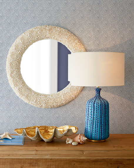 Culloden Pebbled Aquamarine Table Lamp