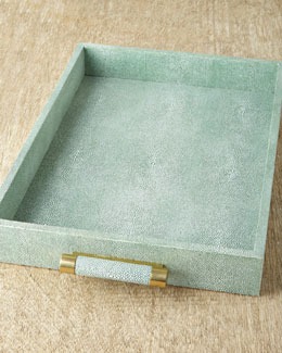 AERIN Green Shagreen Tray