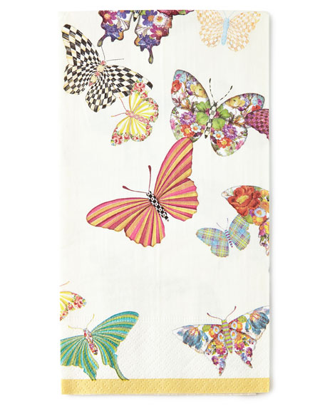 MacKenzie-Childs Butterfly Garden Guest Towels