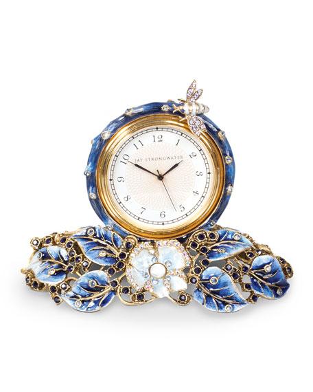 Jay Strongwater Mayfair Leaf & Bee Clock