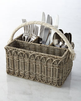 Juliska Waveney Wicker Utensil Caddy