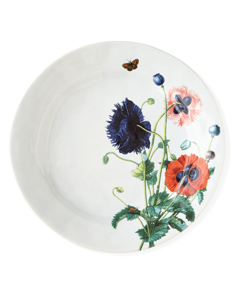 JuliskaField of Flowers Oriental Poppies Dinner Plate